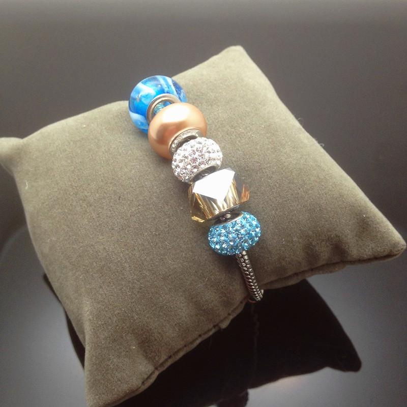 2016 latest for summer SWAROVSKI Crystal Charm Bracelet Bead pan DIY style Dora Thanksgiving Day(China (Mainland))