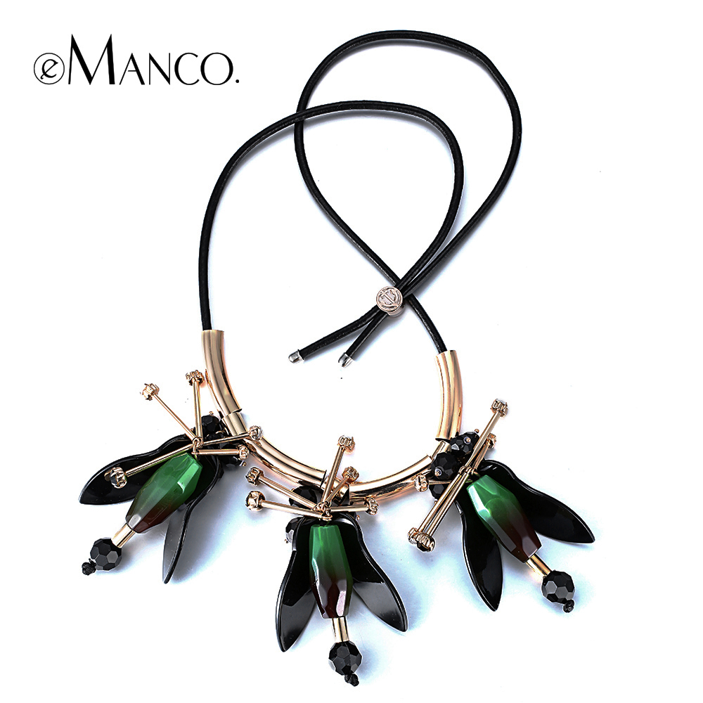 Women new promotions plank statement pendant with Leather Strap eManco 2014 trendy acrylic necklaces jewelry accessories NL12159<br><br>Aliexpress