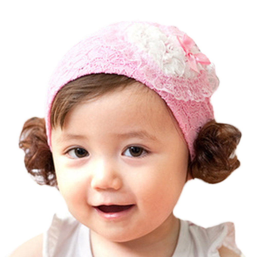 Newborn Lovely Cute Girl Baby Headbands Wig Diamond Decor Headband Bow Elasticity Baby Hair Accessories L3(China (Mainland))