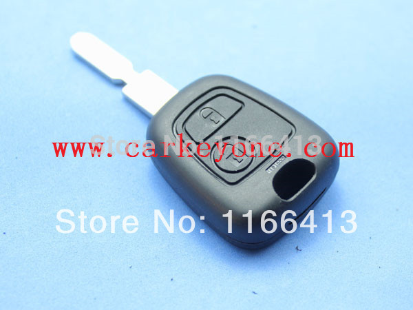 key shell for Peugeot 406 2 button remote key shell car key blank(China (Mainland))