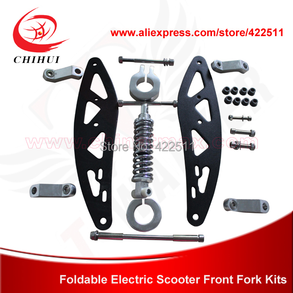 Electric /Gas Scooter Front Fork Kits including Shock Absorber/ Alloy Blocks, Screws&Axles (Scooter Parts & Accessories) - YONGKANG CHIHUI INDUSTRY TRADE CO., LTD store