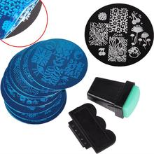 10Pcs Nail Plates +1 Stamper + 1 Scraper Nail Art Stamping Template Image Plates Nail Stamp Plate Nail Art Tools(China (Mainland))