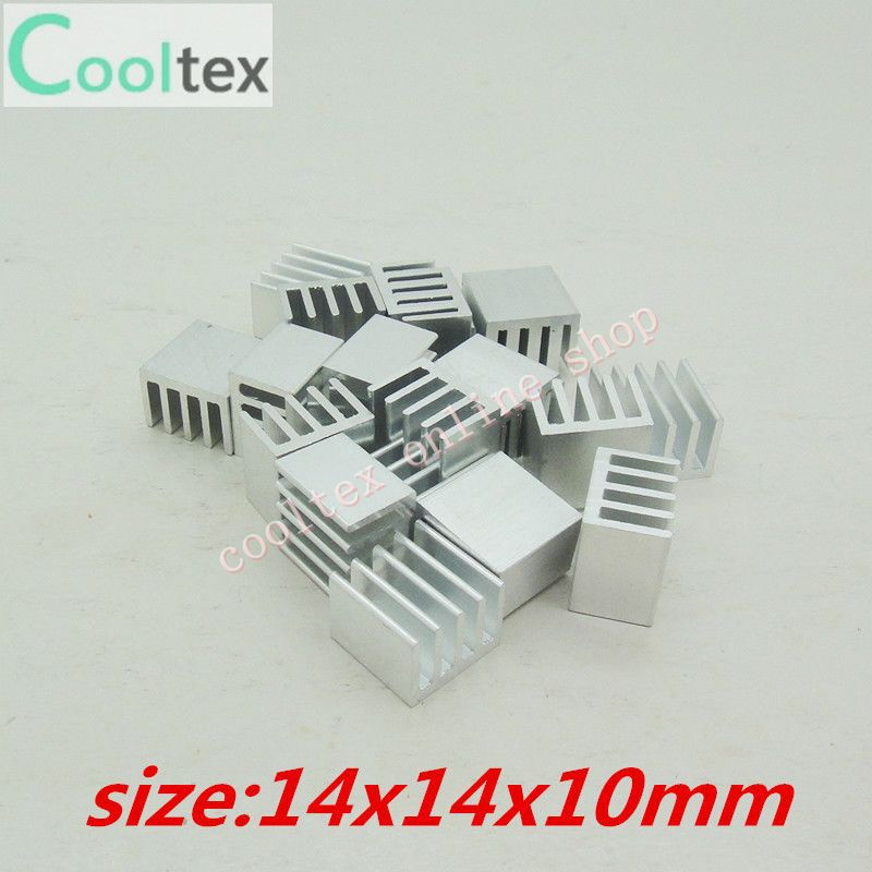 50pcs  Extruded Aluminum heatsink 14x14x10mm for Chip CPU  GPU VGA  RAM LED  IC radiator, COOLER