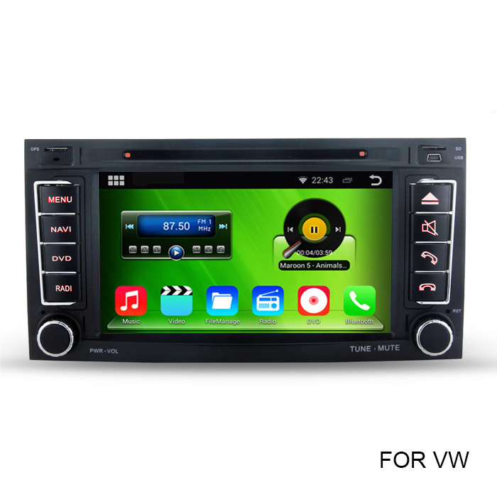 HD 1024*600 Pure Android 4.4 Car PC Video Player For VW Volkswagen Touareg T5 Multivan Transporter With GPS Radio RDS WiFi DVD(China (Mainland))