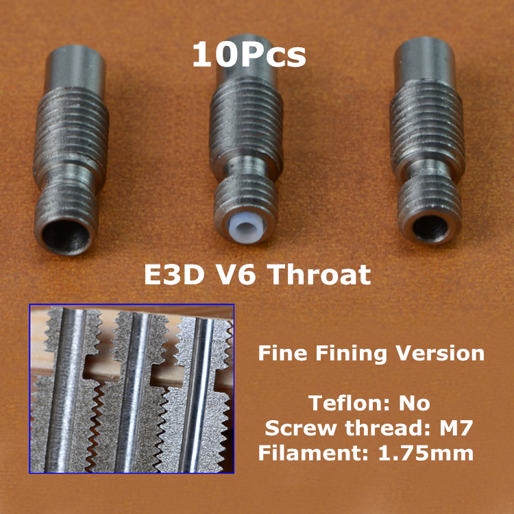10Pcs E3D V6 Heat Break Hotend Throat For 1.75mm Fine Finishing version All-Metal Stainless Steel Remote Feeding Tube Pipes<br><br>Aliexpress