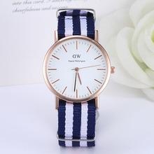New Lovers Nylon Strap Sports Watches Women Fashion Casual Unisex Quartz Watch Men Luxury Brand Rose