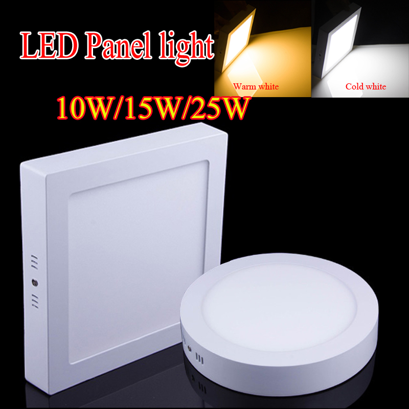 Newest10W/15W/25W Round/Square Surface Mounted LED Panel