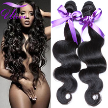 Rosa Hair Products Brazilian Virgin Hair Body Wave 3 Bundles Sexy Hair Formula Brazillian Body Wave Human Hair Weave Bundles 1B(China (Mainland))