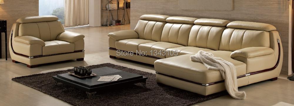 LBZ-3063# Living Room Leather Sofas Beige Corner Leather Sofa China Factory(China (Mainland))