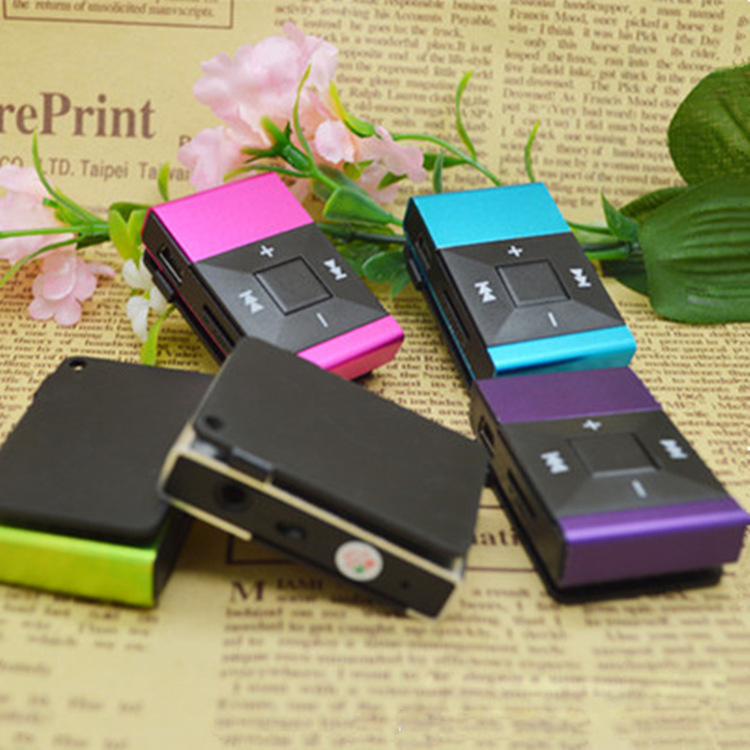 Free Shopping 2016 New Fashion Metal Mini Clip MP3 Player with Micro TF/SD Slot Support 1-8GB Portable MP3 Music Players(China (Mainland))