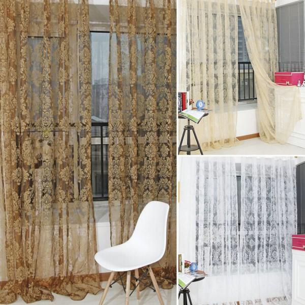 Unique bronzante voile porte rideau de la fen tre balcon for Fenetre hors ecran