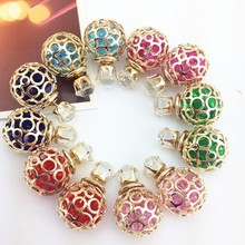 6pairBig Discount Fashionable Crystal Stud Earrings For Women Jewelry Brincos Pendientes Earring Free Shipping The Lowest Price(China (Mainland))
