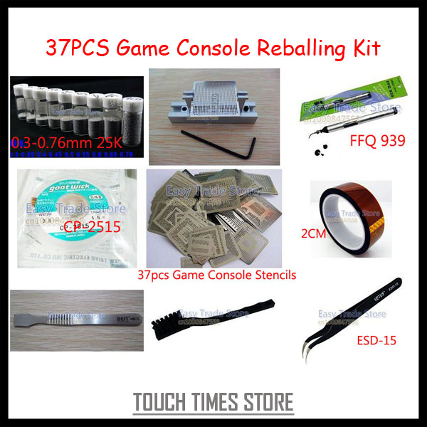 Free Shipping Game Console Reballing Kit for XBOX 360 for PS3 for Wii for PSP BGA Reballing(China (Mainland))