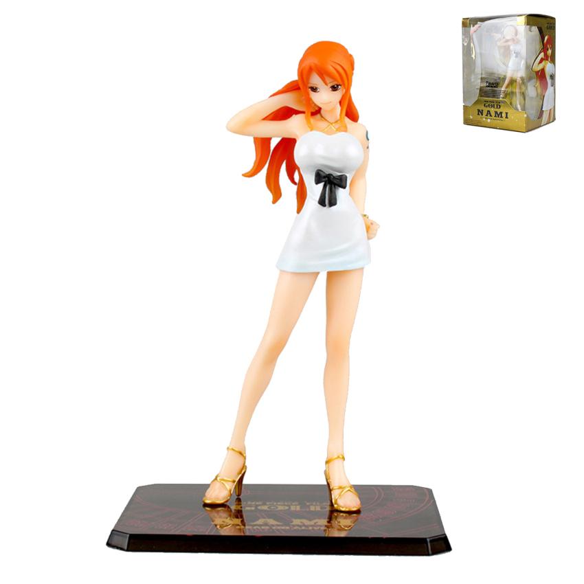 "Ainme Figure Zero One Piece Film Gold Ver Nami 6"" Figure Christmas Gift for Girls Children POP215(China (Mainland))"