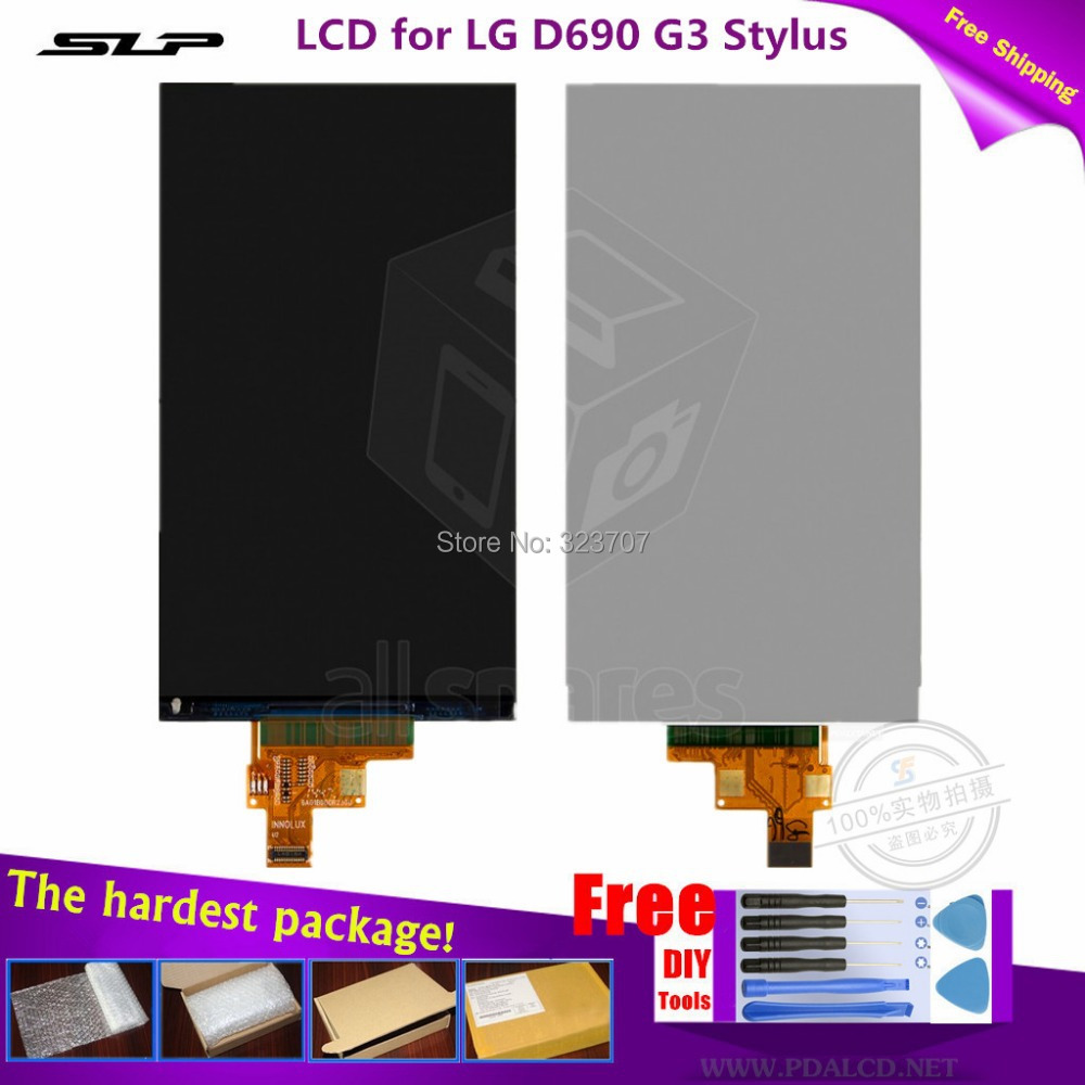 Original 5.5''inch LCD for LG D690 G3 Stylus LCD display screen without Touch panel Free shipping + kit DIY tools