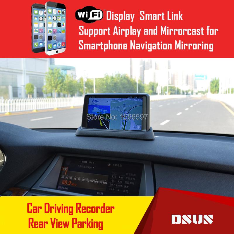 2015 DSUS 7 inch GR-7 1080P HD car DVR smart phone GPS navigation mirror Reverse rear view camera Monitor Motion Detection Wifi(China (Mainland))