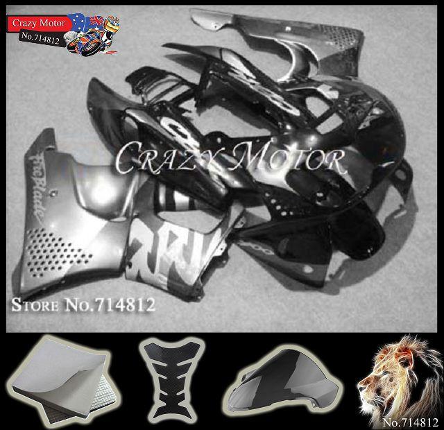 CBR893RR 1996 1997 black Silver gray CBR-900 ABS Fairings Body Kit Fairing Honda CBR900RR CBR893 CBR 900 893 RR - Crazy Motor store