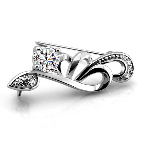925 sterling silver brooches for women 2014 new(China (Mainland))