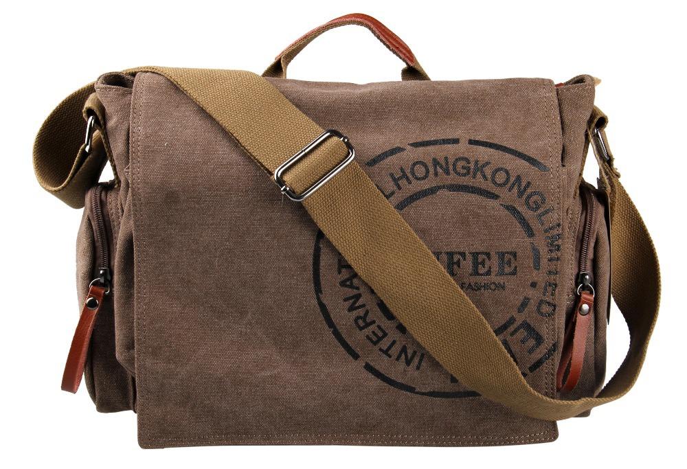 2015 Hot Sale! Veevan Vintage Men Messenger Bags Canvas Shoulder Bag Men Business Briefcase Printing Travel Bag Free Shipping(China (Mainland))