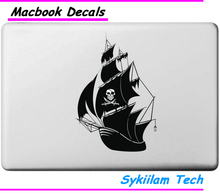Boat of Pirate for apple Logo Creative Sticker for Macbook Skin Air 11 13 Pro 13 15 17 Retina Laptop Computer Vinyl Local Decal(China (Mainland))