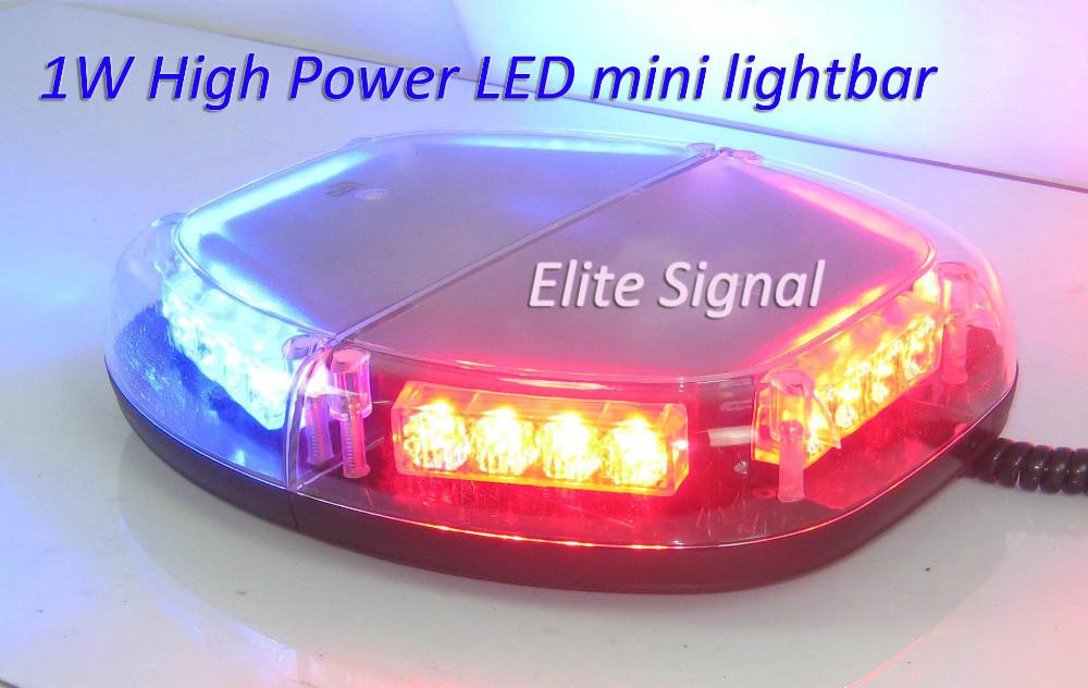 Free shipping by Fedex!! ECE R10 Gen3 1W TIR4 LED MINI lightbar, 24PCS LEDs, UV resistant PC housing, 16 flashing patterns(China (Mainland))