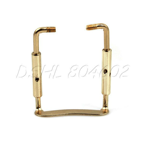 Gold Plated Brass 1/2 1/4 Violin Chinrest Clamp Twin screw(China (Mainland))