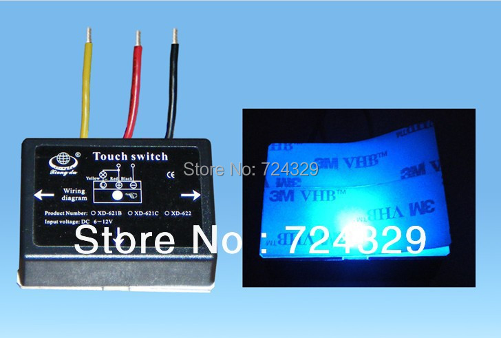 touch switch 12V for LED lamp Bathroom Mirror Switch Lighting Accessories Touch On and Off Switches 2pcs/lot free shipping(China (Mainland))
