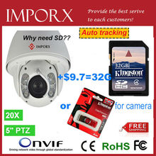 Auto tracking PTZ wifi IP Camera outdoor 2MP full HD 1920*1080P High speed dome camera 20x Zooms cctv camera free shipping DHL