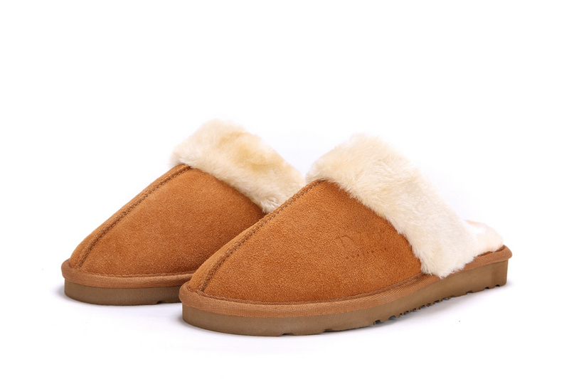 Australia UG Fur Style High Quality Leather Winter Warm Home Bedroom Slippers Soft Plush Indoor Women Slippers Christmas Gift<br><br>Aliexpress