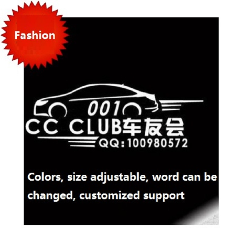 Personalized custom car lovers trend reflective sticker standard car body advertising stickers car styling car-covers(China (Mainland))