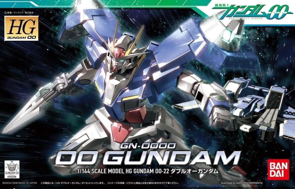 NEW Bandai Gundam HG 1/144 #22 GN-0000 00 Gundam Model Kit Free Shipping #55746(China (Mainland))