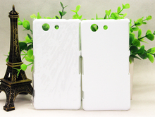 Glass or anti matte  DIY 3D Blank sublimation Case cover Full Area Printed For SONY Xeperia Z4 MINI     20pcs/loT
