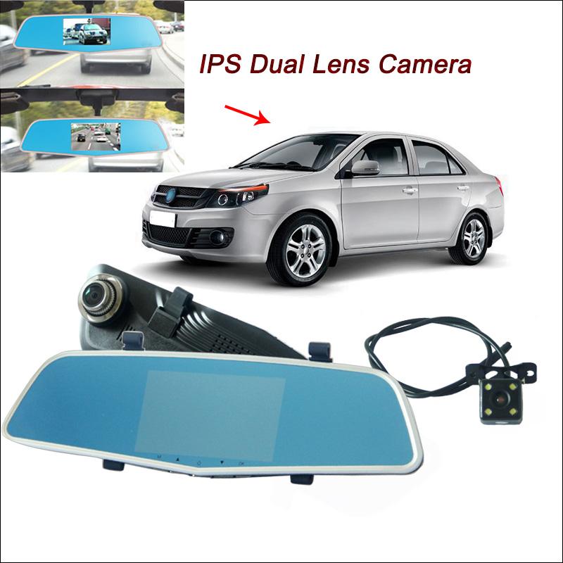 "For geely gc6 gc7 Car DVR Rearview Mirror Video Recorder FHD 1080P Car Dual Camera Novatek 96655 4.5"" IPS Screen Car Black Box(China (Mainland))"
