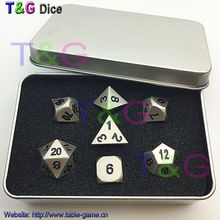 Buy 2016 Top Quality Metalic 7 Dice set d4 d6 d8 d10 d% d12 d20 Polyhedral Dice Digital dragon toys RPG with Boxes for Gift for $16.92 in AliExpress store