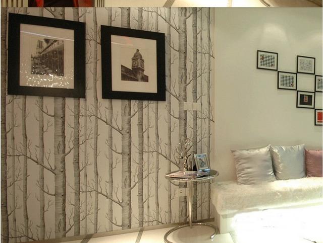 10 메터 자작 나무 패턴 벽지 롤 수입 부직포 우즈 현대 디자이너 ...