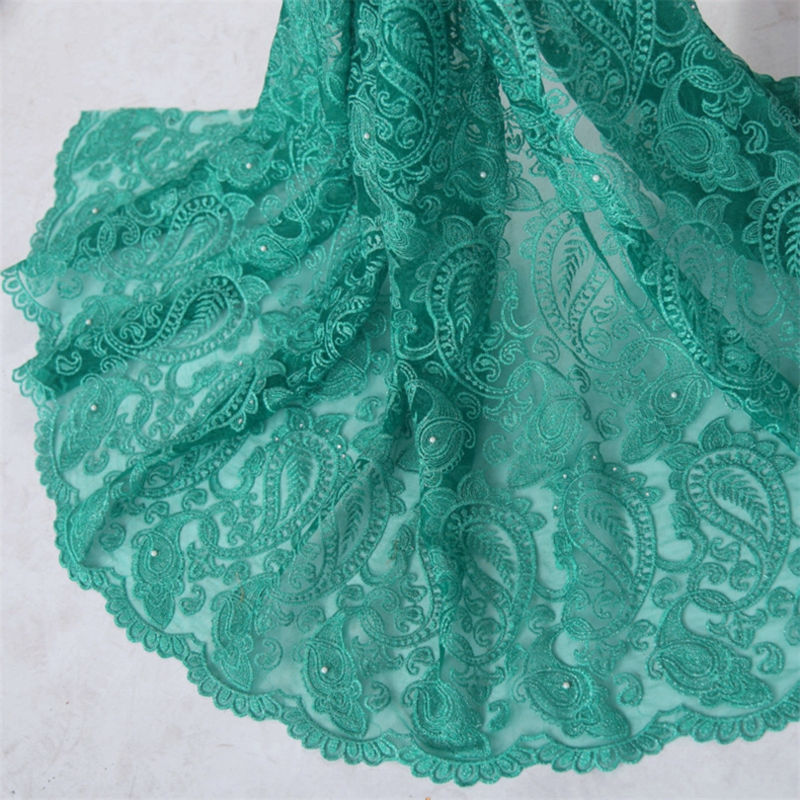 Free shipping tulle lace african beaded lace fabric,french lace fabric for nigerian wedding party dress F50282