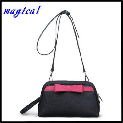 Beauty bow small genuine leather bag women clutches shell 2015 fresh women messenger bags crossbody bag women shoulder bag AA914(China (Mainland))