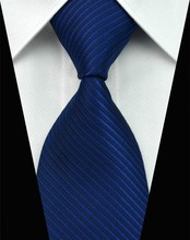 SNT0070 Hot selling Wholesale New 2014 Striped Solid Color Blue Necktie Tie Cufflink Hankie for Men