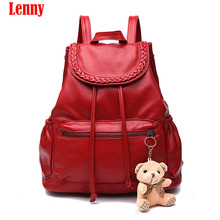 Buy 2017 New Fashion Women Backpack High Youth Leather Backpacks Teenage Girls Female School Shoulder Bag WN 40 for $19.83 in AliExpress store