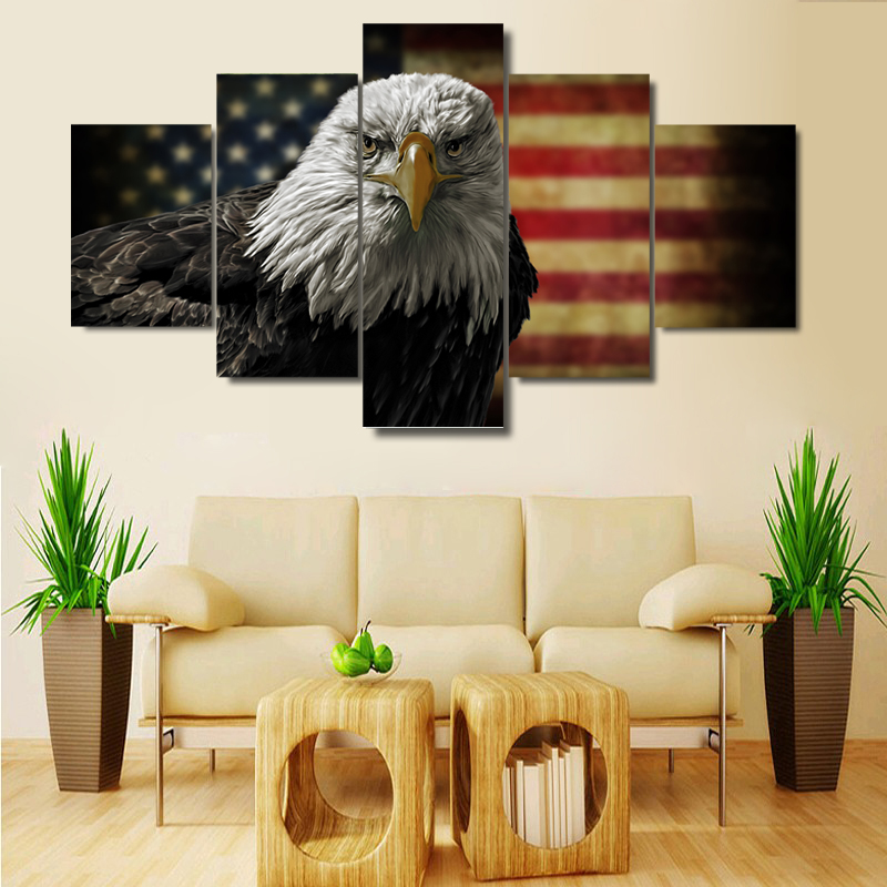 American flag pictures promotion shop for promotional for Eagle decorations home