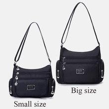 Moda multi-funcional bolsos bolsa de ombro feminina de alta qualidade durável à prova dlight água leve tecido náilon mensageiro saco feminino(China)