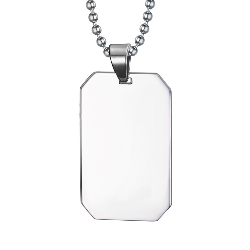 Necklace Stainless steel jewelry custom personality military licensing titanium steel jewelry pendant Necklaces & Pendants(China (Mainland))