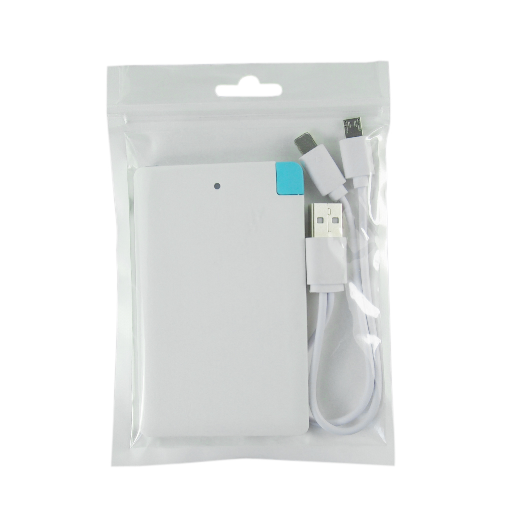 White background 5600mAh Ultrathin Credit Card Slim Mobile Power Bank External Battery For iPhone for HTC