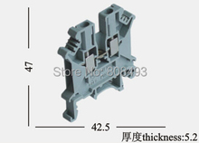 UK-2.5B DIN rail universal class Terminal blocks lug plate Wiring row(China (Mainland))