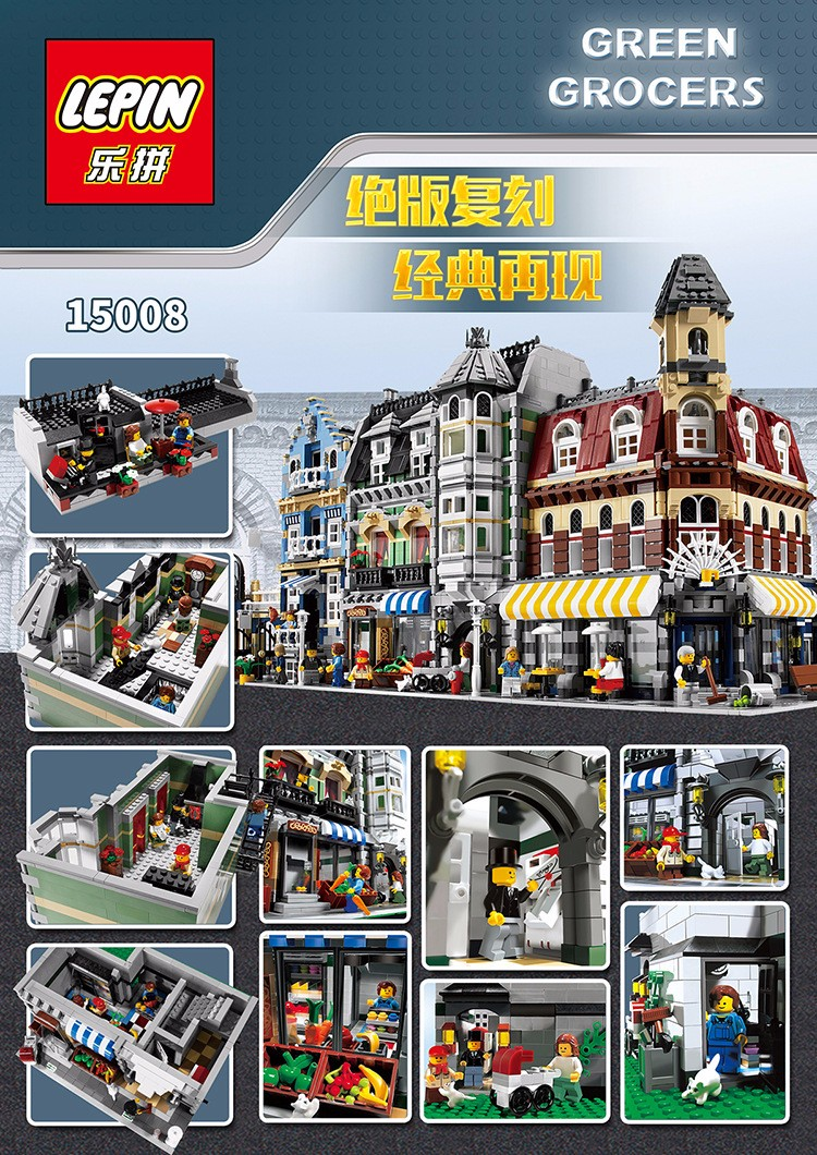 2016 New LEPIN 15002 2133Pcs Creators Cafe Nook Mannequin Constructing Equipment Minifigure Blocks Bricks Appropriate with Legoe 10182