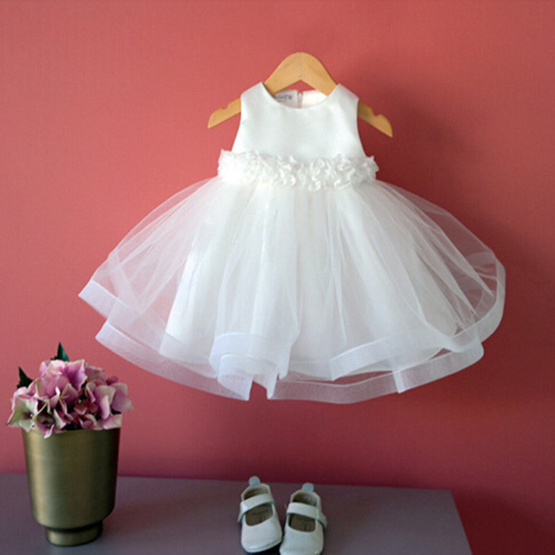 Kids party dresses for gilrs ivory wedding dresses baby girl dresses 2015 christmas vestido infantil 1 year birthday dress 6026(China (Mainland))