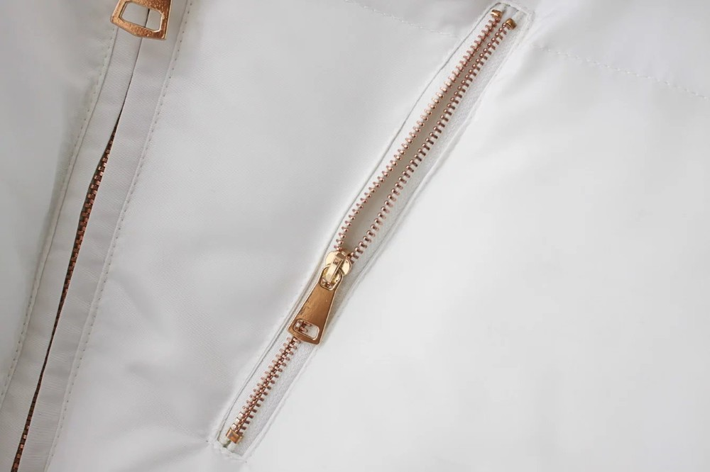 Скидки на Бесплатная доставка Европейский стиль случайные женщин короткий параграф стенд воротник с длинными рукавами карман на молнии сплошной цвет высокой талии пальто