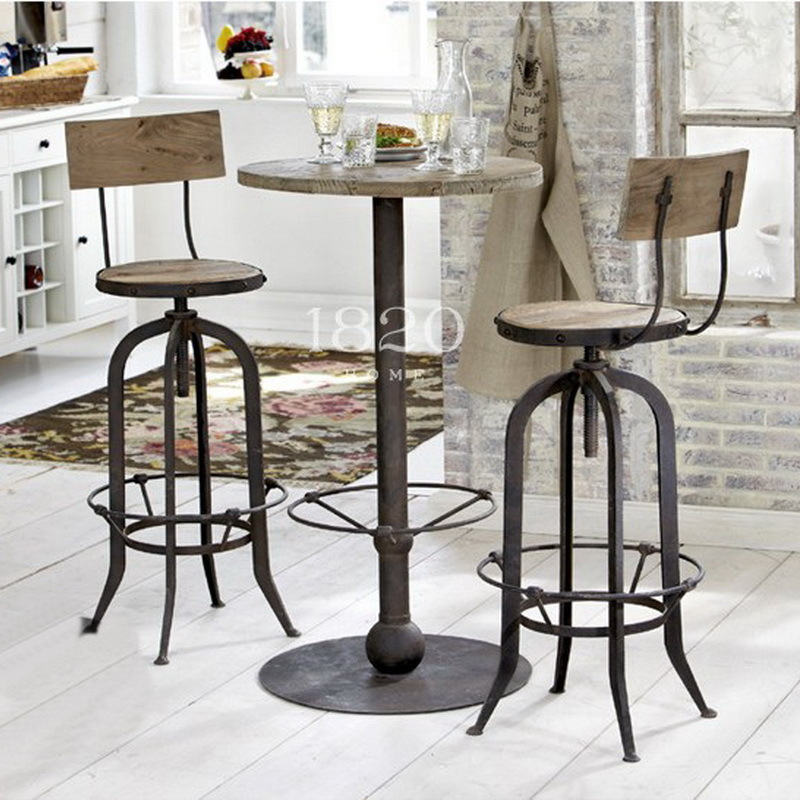american vintage wrought iron tables and chairs can lift the bar high chairs do the old round. Black Bedroom Furniture Sets. Home Design Ideas