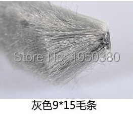 10m 9*15 HD silicified sealing brushes pile fin grey sliding sash patio door window weatherstripping brown sound dust bug proof(China (Mainland))