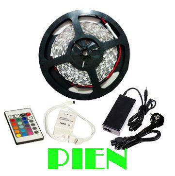 LED Strip 5050 RGB non waterproof 5M 300 Leds 60led/m SMD fita light Lamps+44 key controller+12V 6A power supply Free shipping